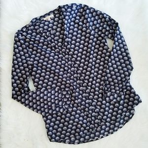 Skies Are Blue Elephant Blouse